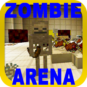 PVP ZombieArena map for MCPE Online PC (Windows / MAC)