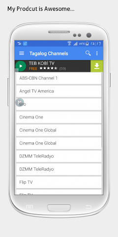 android Tagalog TV sat info Screenshot 0