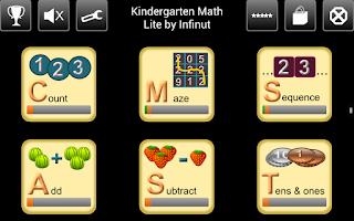 Screenshot of Kindergarten Math Lite