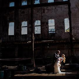 Indoor by Jorge Asad - Wedding Bride & Groom ( love, argentina, grrom, indoor, wedding, bride )