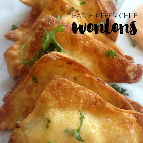 Hatch Green Chile and Cheese Wontons
