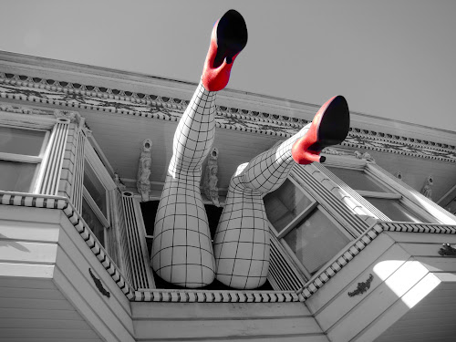 by Alice Gipson - Artistic Objects Other Objects ( building, haight street, alicegipsonphotographs, legs, heels, piedmont boutique, san francisco, women, lady, red, color, colors, landscape, portrait, object, filter forge )