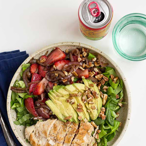 Strawberry Balsamic Grilled Chicken Salad
