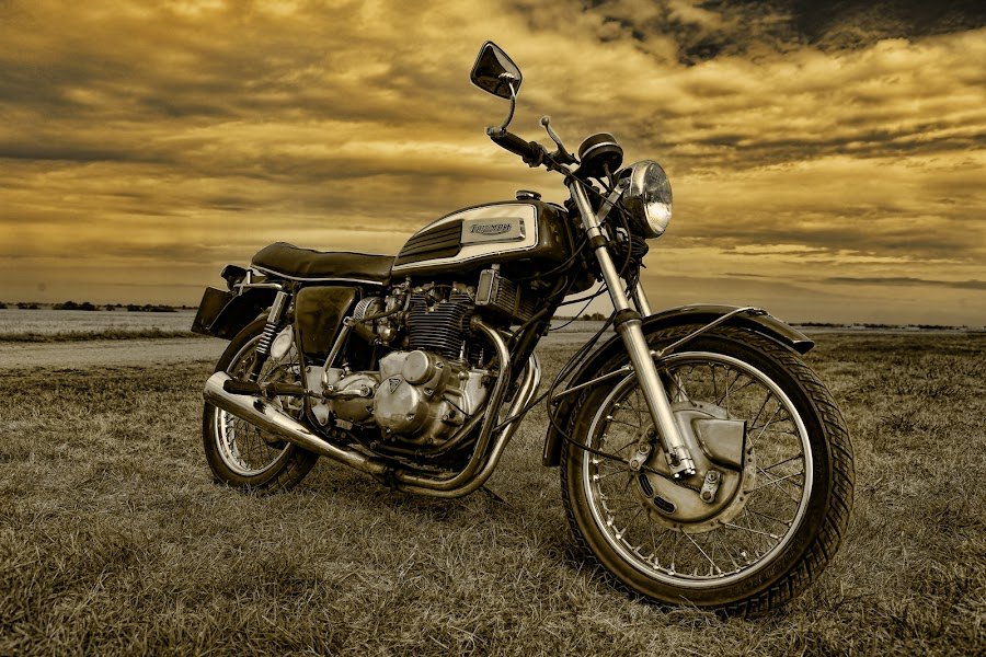 The Best of British by Peter Parker - Transportation Motorcycles ( motorbike, trident, vintage, british, dramatic, motorcycle, t150v, triumph, classic )