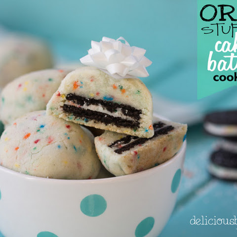 Oreo Stuffed Cake-batter Cookies