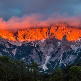 by Mario Horvat - Landscapes Mountains & Hills ( clouds, mountains, sky, sunset, trees,  )