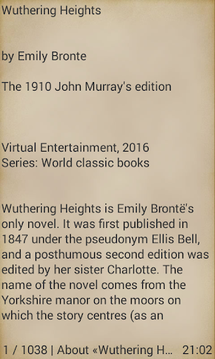 Wuthering Heights Emily Brontë APK