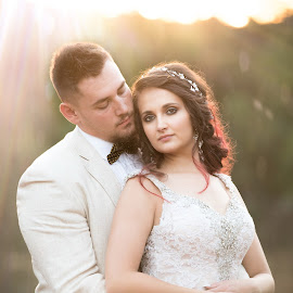 Sunset love by Junita Stroh - Wedding Bride & Groom ( wedding, wedding dress, bride and groom, wedding photographer, destination wedding photographers )