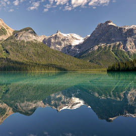 Emerald lake by Petr Podroužek - Landscapes Mountains & Hills ( water, climbing, sky, mountain, cloud, lake, valley )