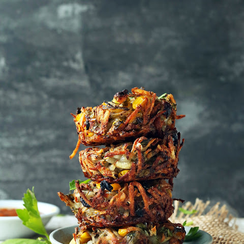 Crispy Hash Brown Haystacks