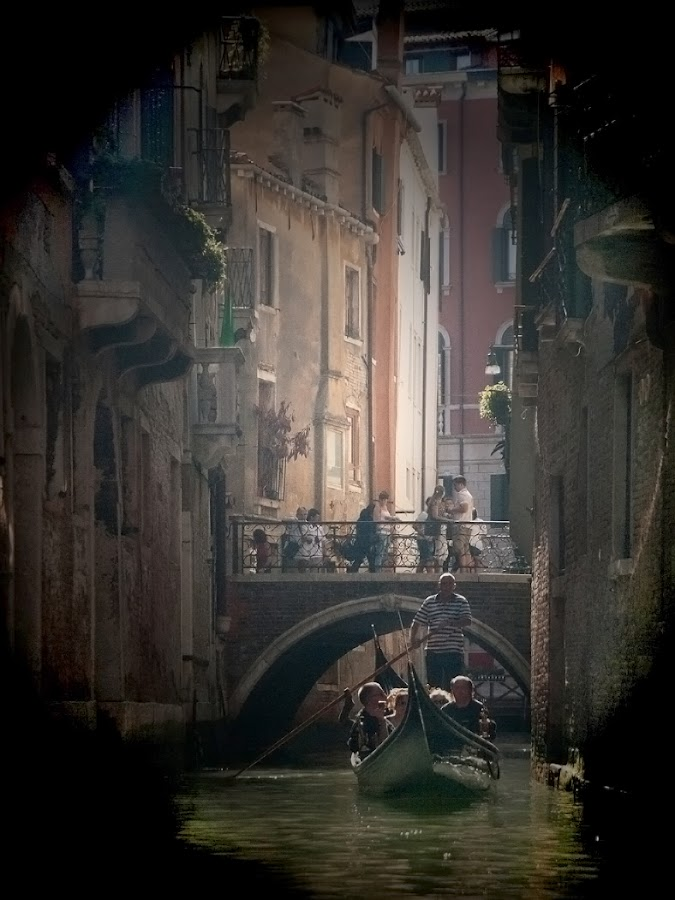 Backstreets of venice by Julie Wetherell - Transportation Boats ( water, holiday, gondola, boats, atmosphere, bridges, italy, people )