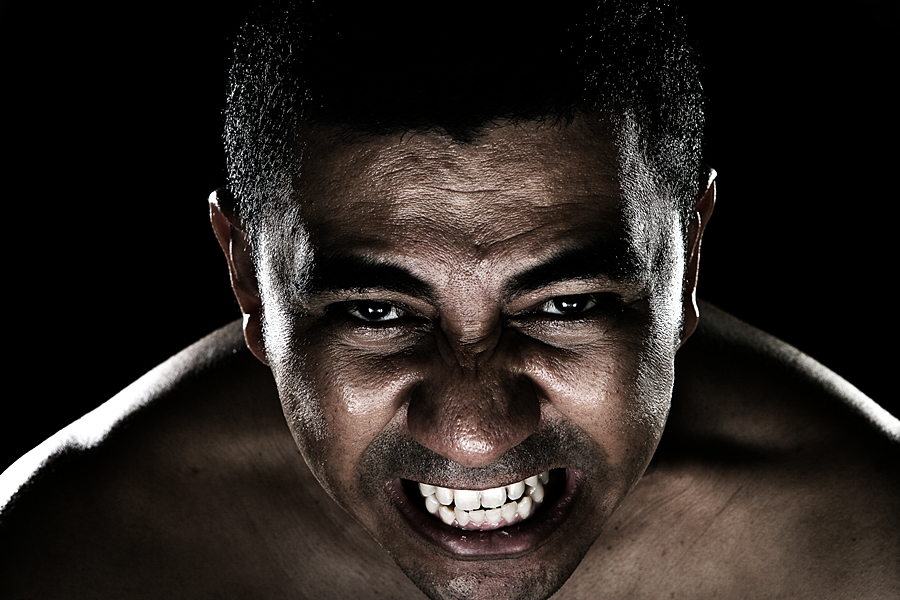 Angry by Barry Allan - People Portraits of Men