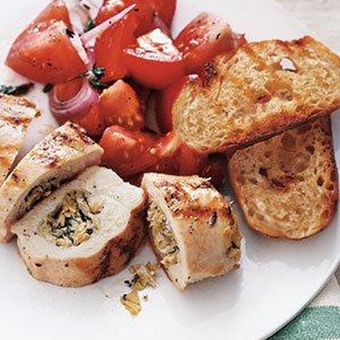 Stuffed Chicken Breasts With Tomato Salad