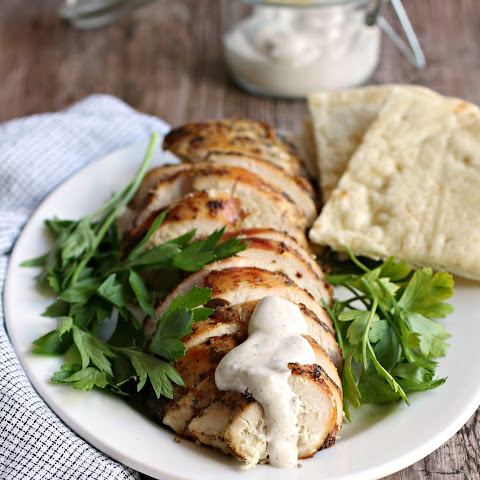 Mediterranean Grilled Chicken + Spiced Creamy Sauce Recipe {Paleo, Clean Eating, Gluten-Free, Dairy-Free, Whole30}