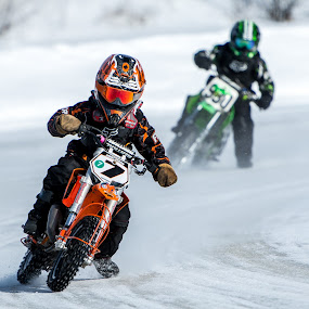 The Future by Beaver Tripp - Sports & Fitness Motorsports ( upper peninsula, honda racing, michigan, escanaba, yamaha, 2015, great lakes ice racing, motorcycle, atv, ice racing, nikon, ktm )