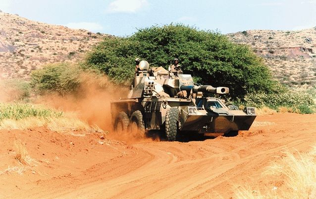 A Denel G-6 howitzer tank. Picture: BUSINESS DAY