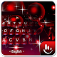 Live 3D Sparkling Red Star Keyboard Theme APK