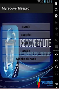 recover deleted files - screenshot