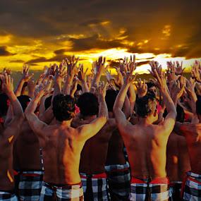 Bali Kecak dance by Budi Risjadi - People Musicians & Entertainers