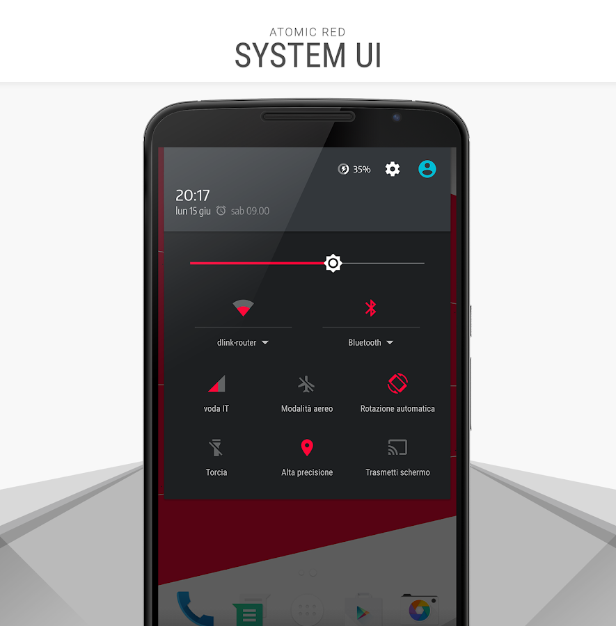 Atomic Red - CM12 CM13 Theme Screenshot 1