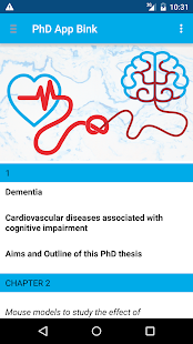 PhD App Bink - screenshot