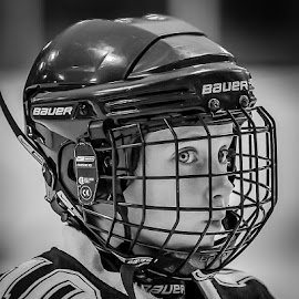 Hockey player by Claude Lamothe - People Street & Candids ( c, sport, minor league, terrebonne, photography )