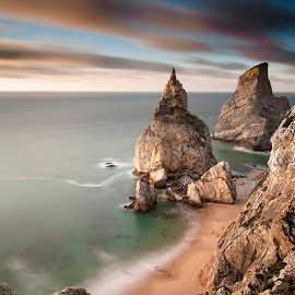 Ursa by Rui Pajares - Landscapes Beaches ( praia, céu, rochas, água, mar, oceano, atlântico, nuvens )