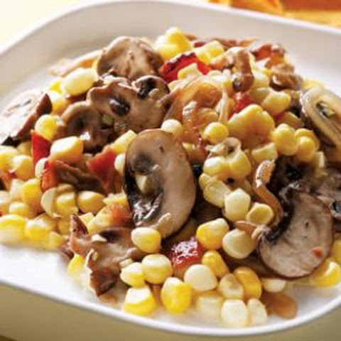 Corn with Bacon & Mushrooms