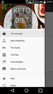 Keto Diet App Guide Fitness app screenshot for Android