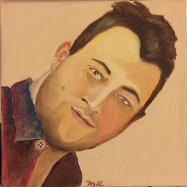 Young Man in Flannel  by Melanie Levin - Painting All Painting