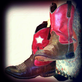 Little Cowgirl by Lucretia Bittner - Artistic Objects Clothing & Accessories ( cowgirl, boots )