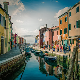 Burano - Italy by Antonello Madau - City,  Street & Park  Historic Districts