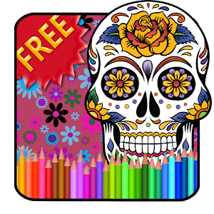 Adult Coloring Sugar Skull