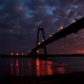 Hale Boggs Bridge by Brook Kornegay - Buildings & Architecture Bridges & Suspended Structures ( louisiana, luling, bridge, hale boggs, sunrise,  )