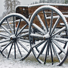 Snow Covered Buggy by Twin Wranglers Baker - Artistic Objects Antiques (  )
