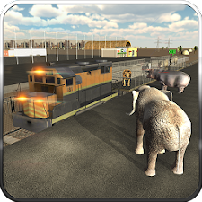 Wild Animal Transport Train 3D