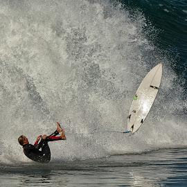 Wipeout by Jose Matutina - Sports & Fitness Surfing ( surfer, california, wipeout, huntington beach )