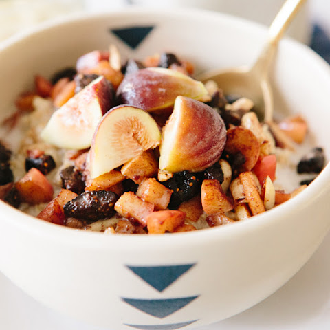 Steel Cut Oats and Cinnamon Stewed Fruit