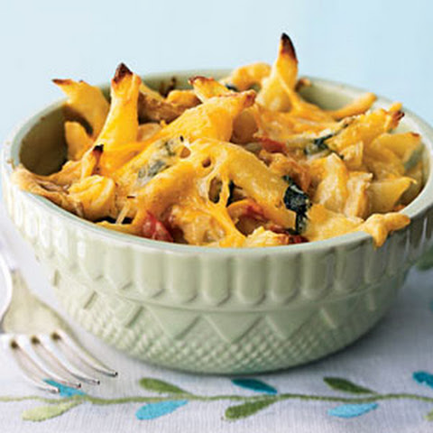 Three-Cheese Chicken Penne Florentine