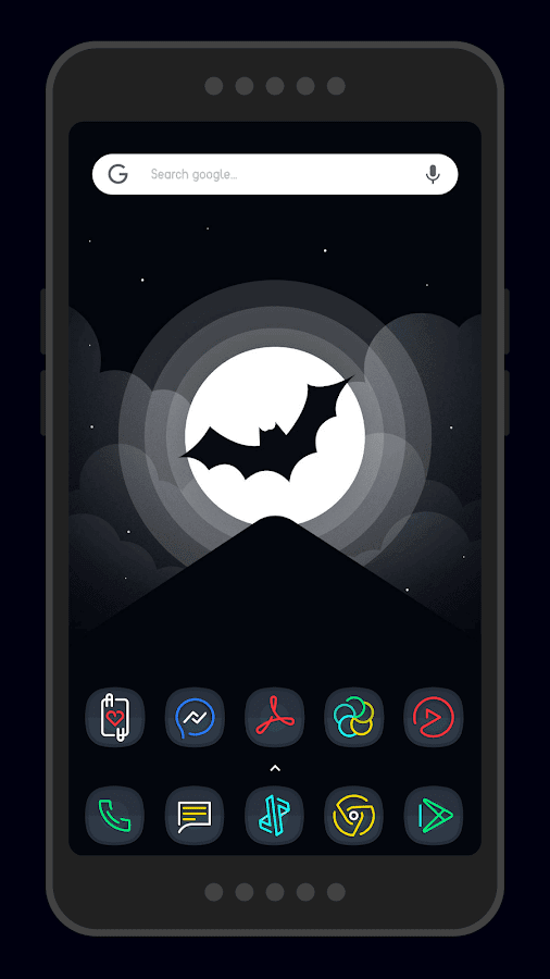 Nightmare Squircle ~ Dark S8/Note8 Icon Pack Screenshot 2