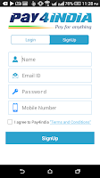 Screenshot of Mobile Recharge and Bill Pay