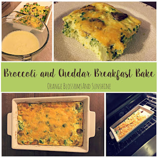 Broccoli and Cheddar Breakfast Bake
