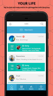 Bsociable - Social Calendar & Event Organizer Screenshot