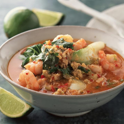 Spicy Shrimp and Crab Soup with Bok Choy