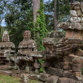Ankgor Wat - Cambodia by Rick Pelletier - City,  Street & Park  Historic Districts