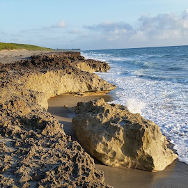 Blowing rocks preserve at sunrise by Darleen Stry - Instagram & Mobile Android