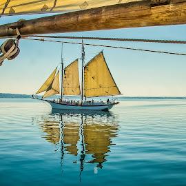 MANITOU by Peggy Zinn - Transportation Boats ( michigan, tallships, schooners, sailing, grand traverse bay, traverse city )
