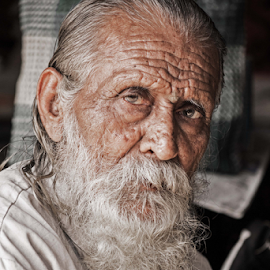 Like layers of soil, each wrinkle has its own story... by Mehul Tembe - People Portraits of Men ( wrinkles, old man )
