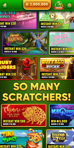 Lucky Scratch WIN REAL MONEY- it's your LUCKY DAY For PC