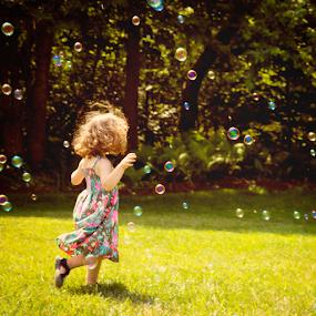 by Rita Colantonio - Babies & Children Children Candids ( child, girl, kidsofsummer, bubbles, action, summer )